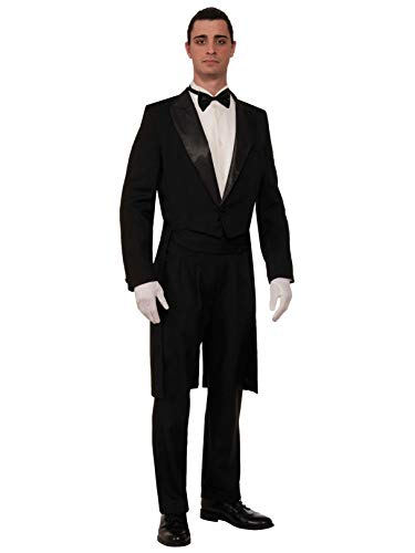 Forum Novelties Men's Vintage Hollywood Formal Tailcoat Costume Tuxedo, Black, One Size -