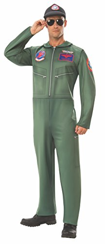 Rubie's Unisex-Adult's Standard (Classic Movie) Top Gun Costume Jumpsuit, as as Shown, Extra-Large]()