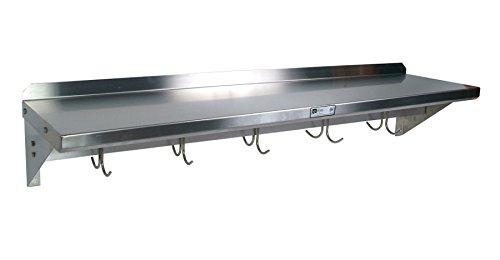 Boos Pot John Stainless Rack Steel (Cucina Americana Mensola Shelf with Pot Rack Size: 36