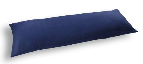 Newpoint International Inc. Microsuede Body Pillow Cover with Double Sided Zippers, Navy