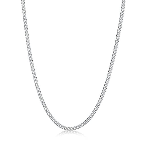 Amberta 925 Sterling Silver 2 mm Curb Chain Necklace Length 20'' inch / 50 cm (20) by Amberta (Image #2)