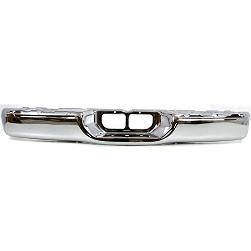 Rear Step Bumper Compatible with Toyota Tundra 2000-2006 Face Bar Only Chrome Steel Fleetside ()