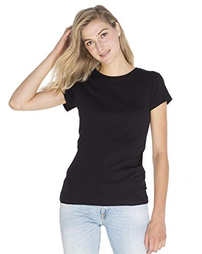 SOIZZI Fashion Women Crew T Shirt, Slim Fitted. 100% Organic Cotton GOTS(R), Basic Crew Neck Short Sleeve Tee, ()