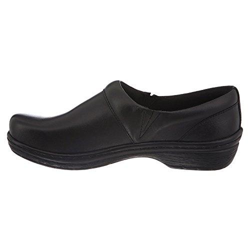 Klogs Heren Mace Comfort Slip Op Gesloten Rugklomp Zwart Glad