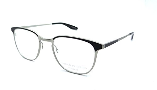 Barton Perreira RX Eyeglasses Frames Sprinter 50x20 Brushed Silver / Black - Barton Perreira