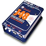 Radial J48 Active 48V Phantom Powered Direct Box w/Digital Switching Supply