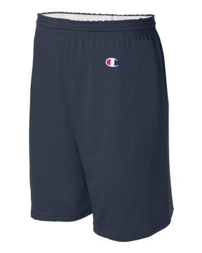 Champion Men's  6-Inch Navy   Cotton Jersey Shorts - Large