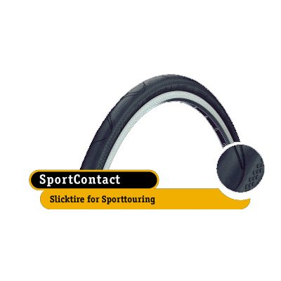 - Continental Sport Contact Reflex Wire Bead Cross/Hybrid Bicycle Tire (26 x 1.3)