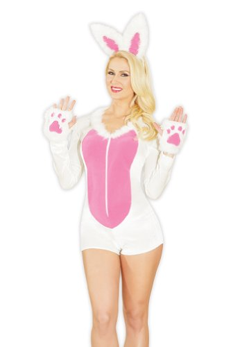Coquette Women's Bunny, White/Pink, Small/Medium (Bunny For Halloween)