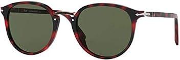 fb6dfcd6c0 Persol TYPEWRITER EVOLUTION PO 3210S RED HAVANA GREEN 51 21 145 men  Sunglasses