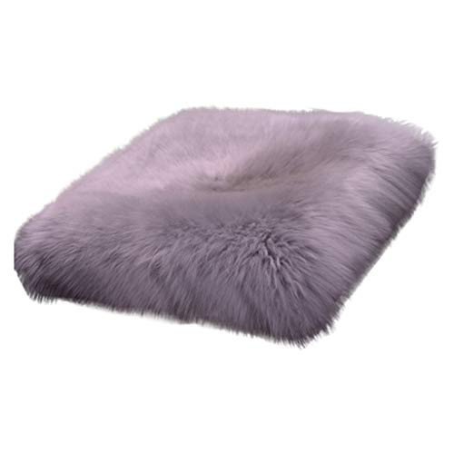 Price comparison product image Nesee Super Soft High Pile Faux Sheepskin Fur Area Rug Chair Pad Car Cushion Sofa Seat Pad (Gray)