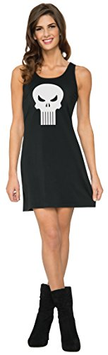 Rubie's Women's Marvel Classic Punisher Costume Tank Dress, As Shown, Large