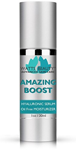 Watts Beauty Amazing Boost Hyaluronic Serum for Volumes of Moisture to Give Your Skin a Voluminous Boost While Taking Your Skin Care Routine to the Next Level - Smoothing Face Moisturizer (1oz)
