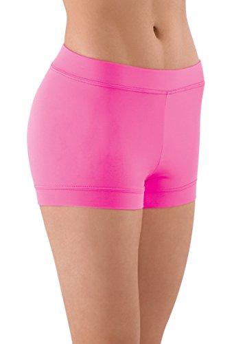 Balera Shorts Girls Booty Shorts For Dance Womens Banded Bottom Spandex Bottoms ()