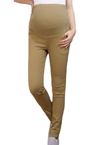 Di A Fanvans Cotone Di Donne Leggings Maternità pantaloni Cachi Tempo Le BI0IqRU