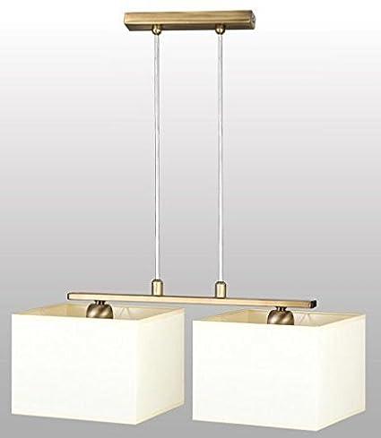 Bauhaus - Lámpara de techo (2 focos, diseño Hogar, Blanco ...