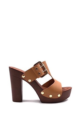 NANA CHIC Women's Open Toe Camel Pumps Sqxgfwdq