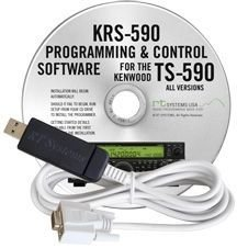 Kenwood TS-590SG Accessory Bundle - 3 Items: Includes RT Systems Programming Software/Cable Kit, Nifty! Mini-Manual and Ham Guides TM Quick Reference Card!!