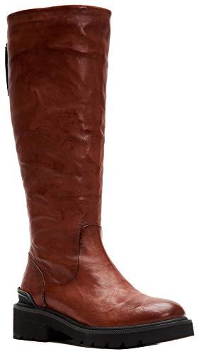 (FRYE Women's Allison Tall Back Zip Knee High Boot Cognac 9 M US)