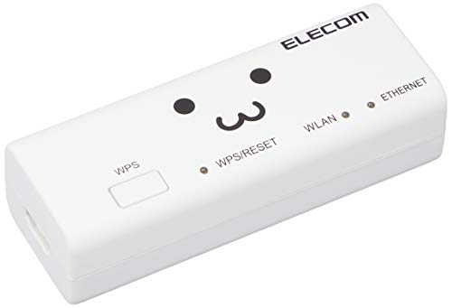 ELECOM Portable WiFi router Wireless LAN 300 Mbps AC adapter included WRH-300WH3 (Japan Import)