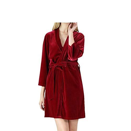 Mujer Terciopelo De Largo Pijama Red Camisón Mmllse Para Boda 6axwqfEyXI