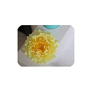 Bling-Bling Case 20Pcs/Lot Artificial Peony Flower Head Wedding Party Christmas Decoration DIY Silk Flower Wall Background Decor Accessories,Yellow 58