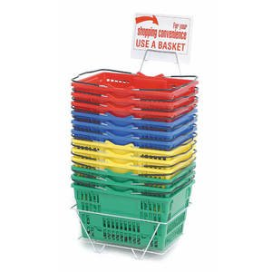 9 Inch Deep Grocery Shopping Baskets by Retail Resource