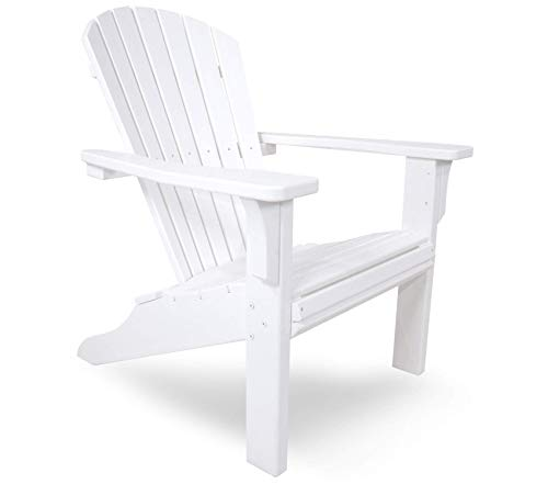 (Premium Seashell Adirondack Chair, White)