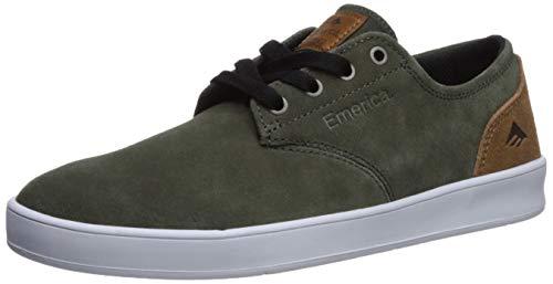 - Emerica Men's The Romero Laced Skate Shoe, Olive/TAN, 12.0 Medium US