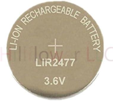 Hillflower 2 Piece LIR1220 1220 CR1220 LM1220 BR1220 Rechargeable Bulk 3.6V Lithium Battery