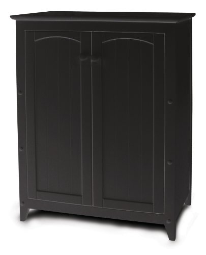 - Catskill Craftsmen Black Double Door Cabinet