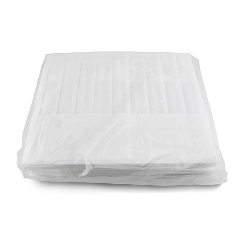 New Star Foodservice 32208 Disposable Non Woven Flat Chef Hat, 9-Inch, White, Set of 10