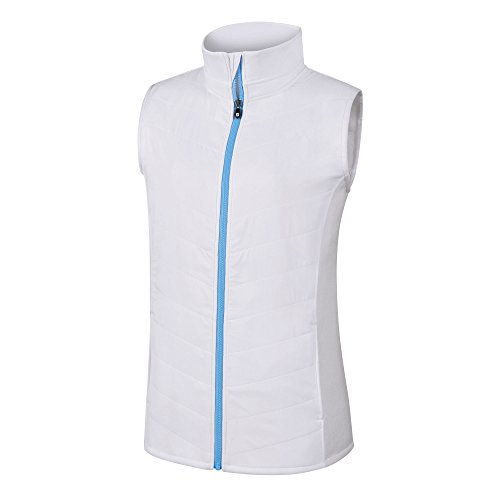 (FootJoy Full-Zip Quilted Hybrid Vest Women)
