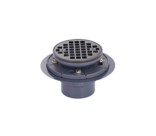 MSSD101RDORB Round Shower Drain with Oil-Rubbed Bronze Finish - Integrated Sink Natural Stone