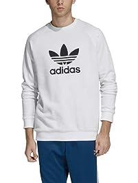 adidas Originals Men's Trefoil Warm-Up Crew,  White,  XLTG