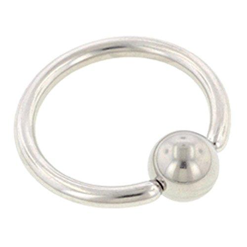 BodyJewelleryShop Surgical Steel Ball Closure Ring - 2mm 12mm