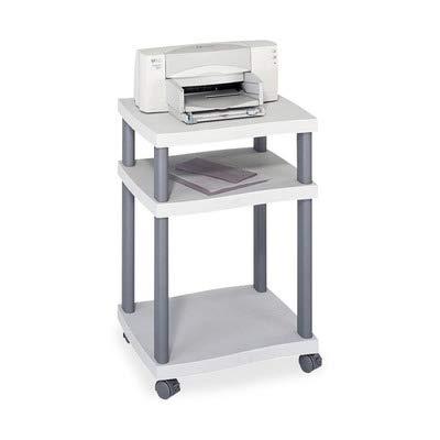 - Safco Wave Desk-Side Printer Stand, 17-1/4 x 17-1/2 x 29-7/8, Charcoal Gray