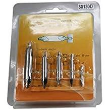 5mm ZXHAO 13//64 inch Tip Diameter HSS Center Drill /& Countersink Set 5pcs
