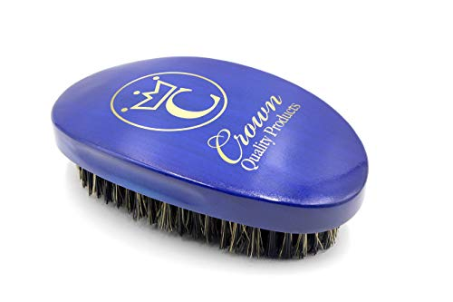 Bag Wave - Crown Quality Products 360 Gold Mixed Boar Bristle Caesar Wave Brush Medium