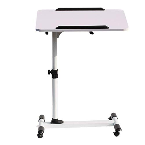 Laptop Desk Cart Height Adjustable Computer Stand Side Table with Rolling Caster for Home Offfice Hospital Reading Eating (Black) by Water-chestnut