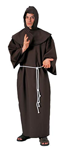 (Forum Deluxe Hooded Monk Costume Robe, Brown, One Size)