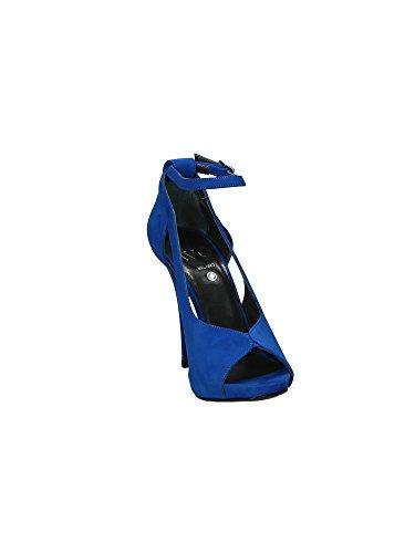 Wo Milano T221 Sandales femmes Bleu, Taille 1