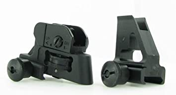 AR15 / M4 Front and Rear Sight Combo - A2 Style