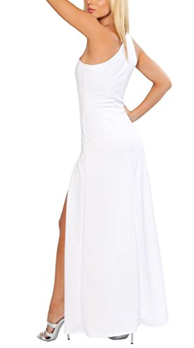 Out Shoulder Black Slit Adam's Gala Cut High Temptation Sensual Dress Gown One TIIwCzYZq