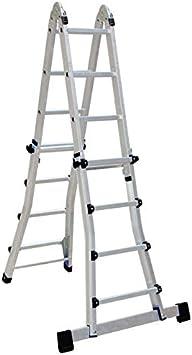 Multi-propósito Drabest plumbtap aluminio plegable escalera 4X4 telescópica 3,71 m: Amazon.es: Bricolaje y herramientas