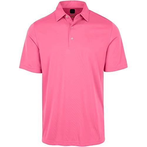 Greg Norman Men's Protek Ml75 Microlux Solid Polo, Pink Isles, X-Large ()