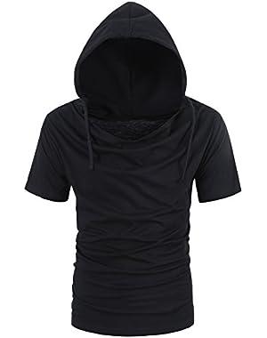 Men Summer Hoodies T Shirt Short Sleeve Loose Casual Pullover Tops