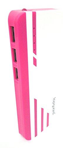 Lapguard Sailing-1530 Power Bank 13000 mAh Make In India portable Charger powerbank -White-Red