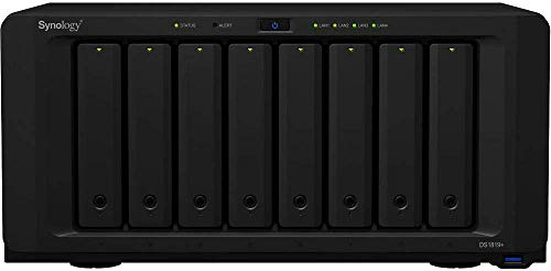 Synology DiskStation DS1819+ iSCSI NAS Server with Intel Atom 2.1GHz CPU, 8GB Memory, 16TB HDD Storage, DSM Operating System