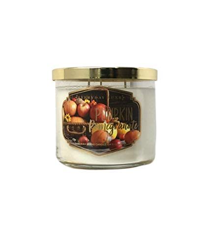 Everyday Luxe Pumpkin Pomegranate Scented Highly Fragranced 3 Wick Soy Blend Candle